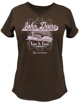 John Deere Brown 'Love to Farm' V-Neck Tee - Plus Too
