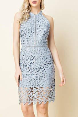 Blushing Heart Lace Cutout Dress