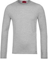 Hugo Shevro Grey Extra Fine Merino Wool Sweater