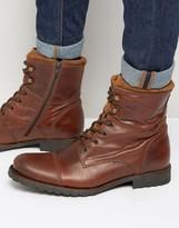 Aldo Lemond Leather Laceup Boots