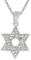 Giani Bernini Cubic Zirconia Star of David Pendant Necklace in Sterling Silver, Only at Macy's