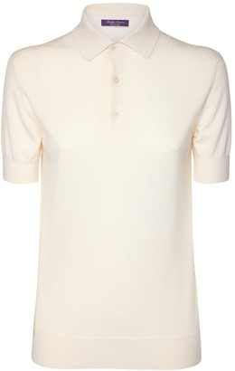Ralph Lauren Collection Cashmere Knit S/S Polo Sweater