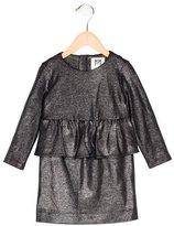 Milly Minis Girls' Metallic Peplum Dress