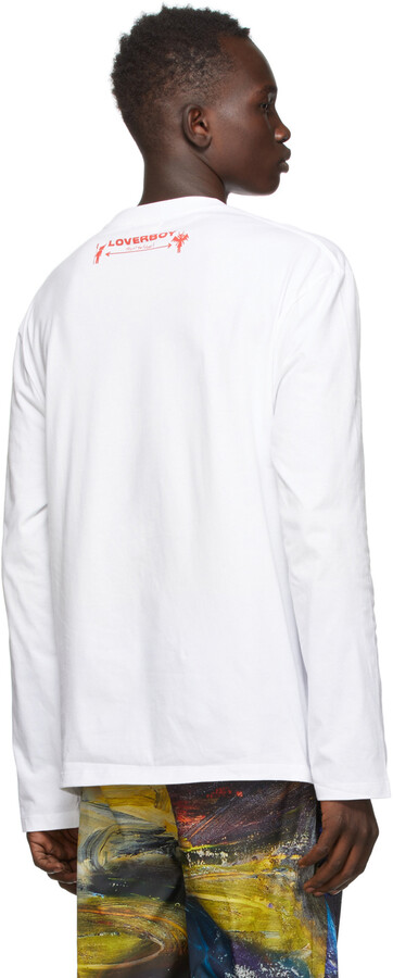 Thumbnail for your product : Charles Jeffrey Loverboy White Scream Long Sleeve T-Shirt