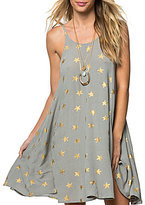 O'Neill Faye Star Print Open Back Hi-Low Swing Dress