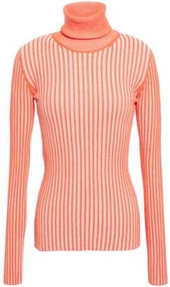 McQ Ribbed Cotton Turtleneck Sweater