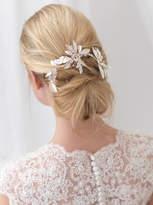 Etsy Floral Bridal Hair Clip, Rhinestone Wedding Hair Clip, Silver Hair Clip, Bridal Hair Comb, Bridal Ha