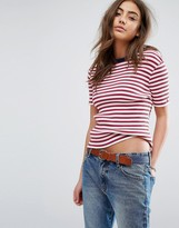 Tommy Hilfiger Striped T-shirt with Contrast Neck