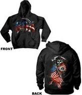 Sons of Anarchy SOA Reaper American Flag Men's Full Zip Hoodie