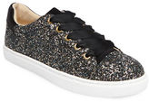Betsey Johnson Rae Glittered Lace-Up Sneakers