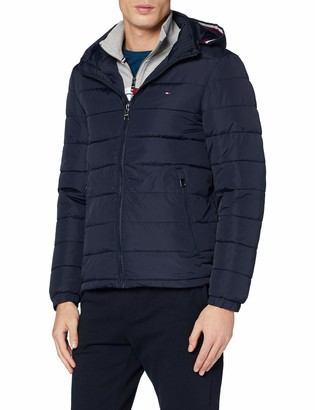 Tommy Hilfiger Men's Quilted Hooded Jacket Bomber