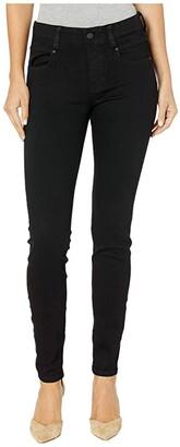 Liverpool Gia Glider/Revolutionary New Skinny Pull-On in Stretch Black Denim in Black Rinse (Black Rinse) Women's Jeans