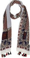 Barneys New York WOMEN'S MIXED PRINT SCARF
