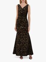 Thumbnail for your product : Gina Bacconi Devin Metallic Velvet Maxi Dress