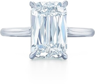 Kwiat Ashoka Cut Diamond Solitaire Platinum Ring