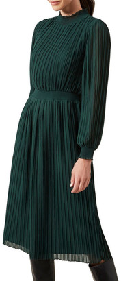 French Connection High Neck Midi Dress