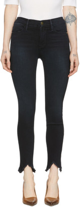 Frame Navy Le High Skinny Double Triangle Jeans