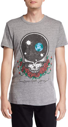 Chaser Men's Skull & Roses Graphic Triblend T-Shirt