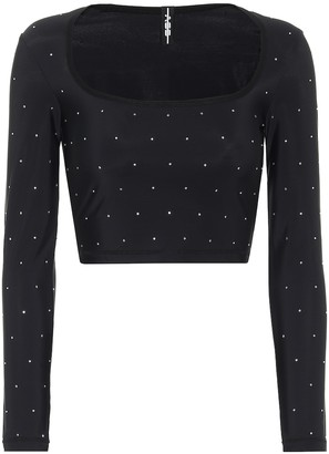 Adam Selman Sport Embellished crop top