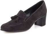 Gravati High-Heel Tassel Loafer, Gray