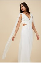 Thumbnail for your product : Little Mistress Ivory Maxi Embellished Dress
