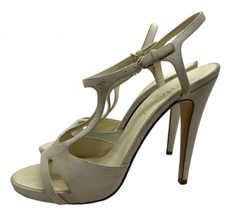 Chanel Beige Suede Sandals