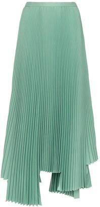Plan C Asymmetric Pleated Midi Skirt