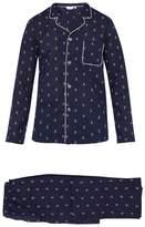Derek Rose - Nelson Surfer Print Cotton Pyjama Set - Mens - Navy