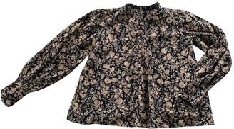 Antik Batik Navy Lace Top for Women