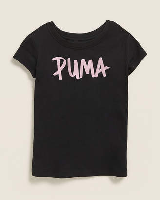 Puma Toddler Girls) Paint Logo Short Sleeve Tee