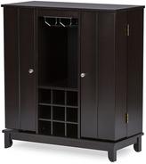 Baxton Studio Derremer Dark Brown Bar Cabinet