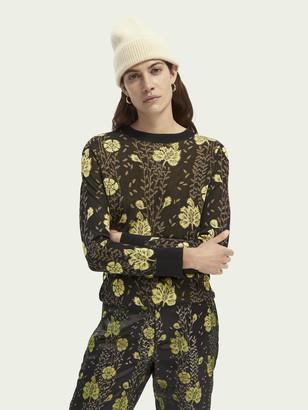 Scotch & Soda Round neck jacquard flower print pullover   Women