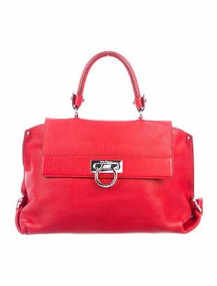 Salvatore Ferragamo Leather Sofia Handle Bag Red