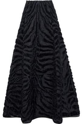 Alberta Ferretti Flared Fil Coupe Organza Maxi Skirt