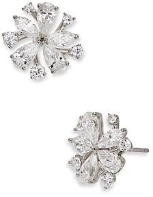 Nadri Leilani Cubic Zirconia Flower Stud Earrings