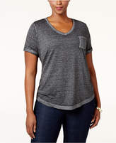 Style&Co. Style & Co. Plus Size Burnout T-Shirt, Only at Macy's