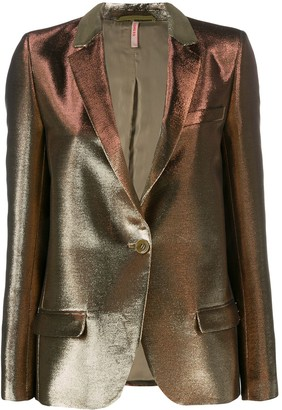 Indress Metallic-Effect Fitted Blazer