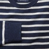 Charles Tyrwhitt Navy and grey blue heather crew neck jumper