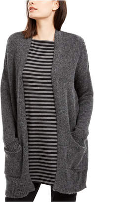 Eileen Fisher Open-Front Patch-Pocket Cardigan