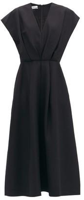 Co Cap-sleeve Faille Dress - Black