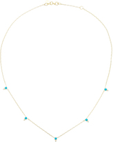 Ila Devere 14K Gold Turquoise And Diamond Necklace