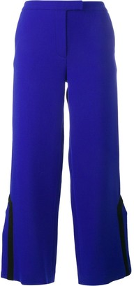 Osman Contrast Trim Side Slit Trousers