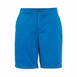 Weird Fish Naila Plain Chino Shorts Blue Wash Size 14