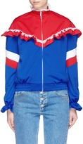 Ground Zero Lace trim ruffle colourblock jersey jacket