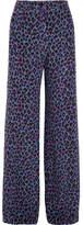 Vanessa Seward Emmanuelle Leopard-print Silk Crepe De Chine Wide-leg Pants - Purple