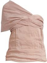 Chloé Striped One-Shoulder Top