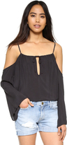 Blue Life Open Shoulder Top