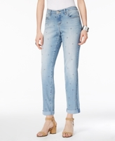 Style&Co. Style & Co Style & Co Petite Star-Print Boyfriend Jeans, Created for Macy's