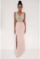 Terani Couture 1715P2985 Embellished Cutout Sheath Gown