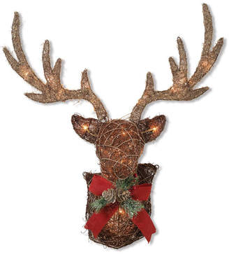 Gerson & 32-Inch Long Electric Vine Stag Head Wall Dcor